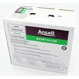Encore Acclaim Latex Powder free Surgical Gloves By Ansell Glove Surgical L