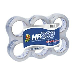 Duck Hp260 Packing Tape Refill 6 Rolls 1 88 Inch X 60 Yard Clear 1296093