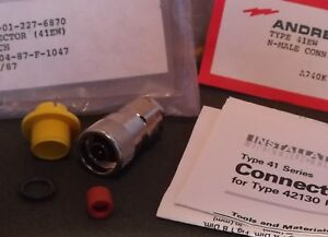 Andrew 41ew Mda904 87 f 1047 N male Rf Connector Adapter Lot X9 Nos