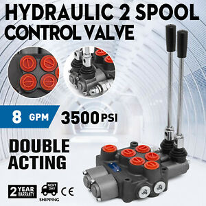 2 Spool 8 Gpm Mb21bb5c1 Hydraulic Control Valve Double Acting Cylinder Spool