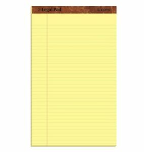 Top7572 Tops the Legal Pad Ruled Perforated Pads Carton Of 72