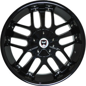 4 Wheels 18 Inch Black Savanti Rims Fits Jeep Liberty 2002 2012