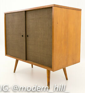 Vtg Mcm Paul Mccobb For Planner Group Media Console Record Cabinet Furniture