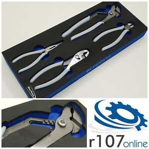Blue Point 4pc Pliers Set In Tool Control Foam Incl Vat As Sold By Snap On