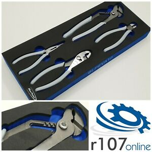 Blue Point 4pc Pliers Set In Tool Control Foam As Sold By Snap On
