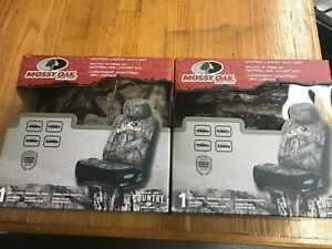 2 Mossy Oak Seat Covers New In Box Camo Browning Style Country Break Up Neoprene
