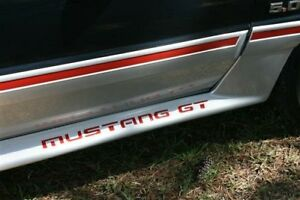 87 93 Mustang Gt Bumper Decal Inserts
