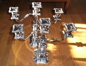 A Beautiful Pair Of Vintage Goldfeder Silverplated Candelabra Candlesticks