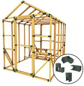 Build Your Own E z Frame 8x10 Standard Chicken Coop And Run Kit Black