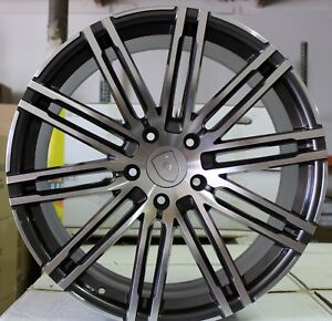 21 Inch Rims Fit Porsche Cayenne Base Turbo S Gts Turbo 2 Machined Wheels