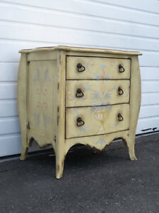 French Shabby Chic Commode Large Nightstand Small Dresser By Drexel 9396