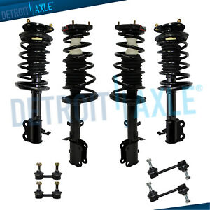 Front Rear Struts Coil Spring Sway Bars For 1993 2002 Toyota Corolla Prizm