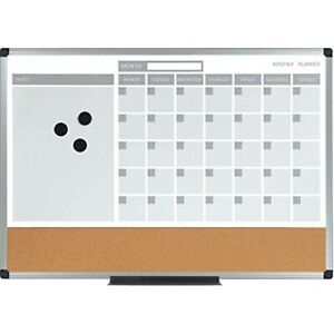 Mastervision Mb3507186 Planning Board 3 in 1 Calendar Dry Erase 18 X 24 With