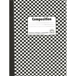 Norcom Composition Book 9 75 X 7 5 Inches College Ruled Assorted Colors 100