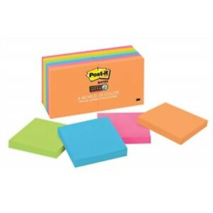 Post it Super Sticky Es 2x Sticking Power 3 In X 3 In Rio De Janeiro Collect