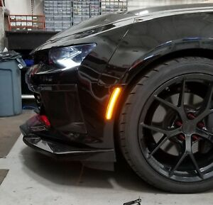 Smoked Led Side Markers Lights 2016 2018 Chevy 6th Gen Camaro