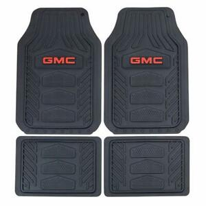 Officially Licensed Gmc All Weather Pro Heavy Duty Rubber Floor Mats Set