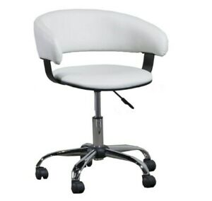 Office Desk Chair Gas Lift Super Heavy Duty Swivel Executive Adjustable White