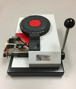 Ccs 200 Pvc Card Embosser Financial Format 5 Lines