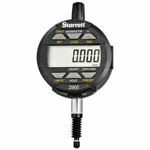Starrett 2900 6m Lcd Electronic Indicator 8mm Stem Dia 0 12mm