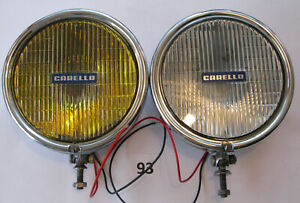 Carello Fog Lights Large Pair Yellow And Clear Hella Marchal Cibie