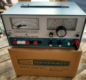 Vintage Mint Heathkit Im 4180 Fm Deviation Meter With Box