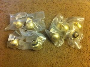 Lot Of 8 Brass Cabinet Knobs Round New