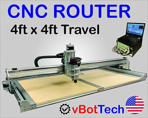 Cnc Router Mill Engrave 50 x50 4x4 Working Area w Controls And Computer
