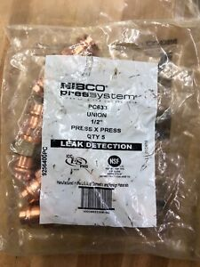 Nibco Copper Union Pc633 4 1 2 Press X Fnpt Package Of 5 Free Shipping