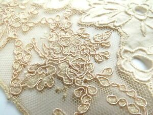 Antique Handmade Lace Collar Insert Eyelet Border Beauty Old