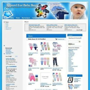 Established Baby Apparel Best Make Money Affiliate Business Website For Sale