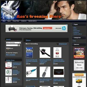 Men s Grooming Store Advance Affiliate Website Business For Sale free Domain