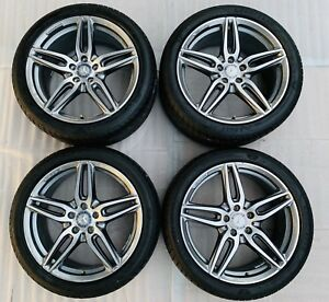 Mercedes Amg E Class 19 Factory Oem Rim Wheels And Tires Staggered 85541 85542