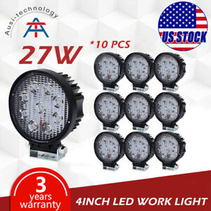 10x27w 4inch Round Led Work Light Off Road Led Light Bar Driving Light Ford