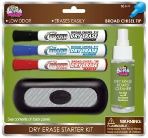 Board Dudes Dry Erase Value Pack With 3 Markers Cleaner Eraser ddp03