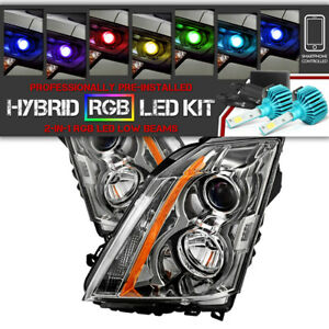 Bluetooth Rgb Led Bulb 08 14 Cadillac Cts Chrome Replacement Headlight Assembly