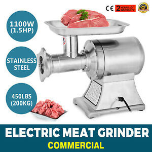 1 5 Hp Electric Meat Grinder 1100 W Stainless Steel Meat Mincer 450lbs h
