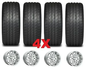 18 Helo Custom Mag Alloy Wheels Rims And Tires Accord Honda 5 Lug Set Of 4 Gray
