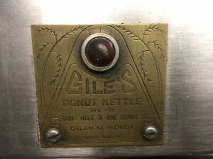 Giles Electric Donut Kettle Deep Fryer Antique May Not Work Not Tested