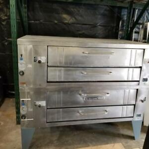 Bakers Pride Y600 Natural Gas Double Deck Pizza Ovens