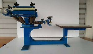 R Jennings 4 Color 1 Station Tabletop Silk Screen Press