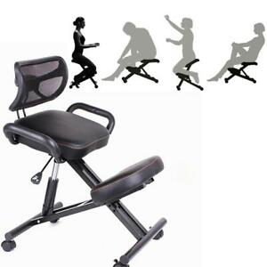 A ergonomically Designed Knee Chair With Back And Handle Office Kneeling