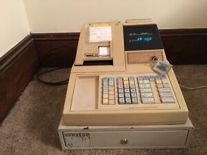 Samsung Er 4915 Electronic Cash Register With Cash Drawer And Key As Is For Part