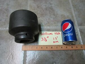 3 1 2 Williams Usa 8 6112 Impact Socket 1 5 1 1 2 Drive 6 Point Fast Shipping