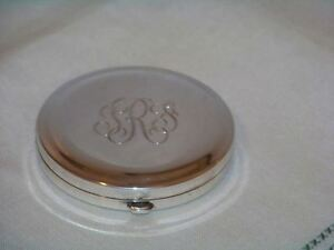 Vintage Art Deco Sterling Tiffany Compact Trf