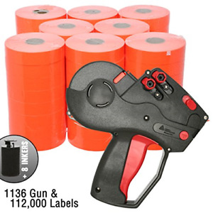 Monarch 1136 Price Gun With Labels Value Pack Includes Monarch 1136 Pricing Red