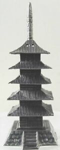 Chinese Or Japanese 950 Sterling Pagoda Pepper Tower Salt Shaker One Piece
