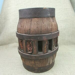 Large Hub Of Antique Wagon Wheel 12 Inches High And 24 Pounds With Steel Bands