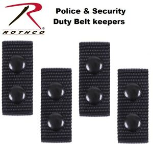 Belt Keepers Police Security Tactical Duty Belt Keepers 4 Per Set 10584 Rothco