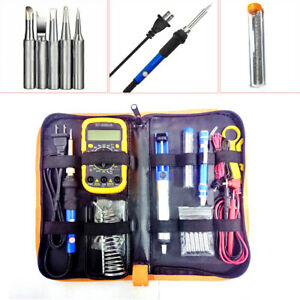 Electric Heating Adjustable Temperature Welding Solder Soldering Iron Multimeter